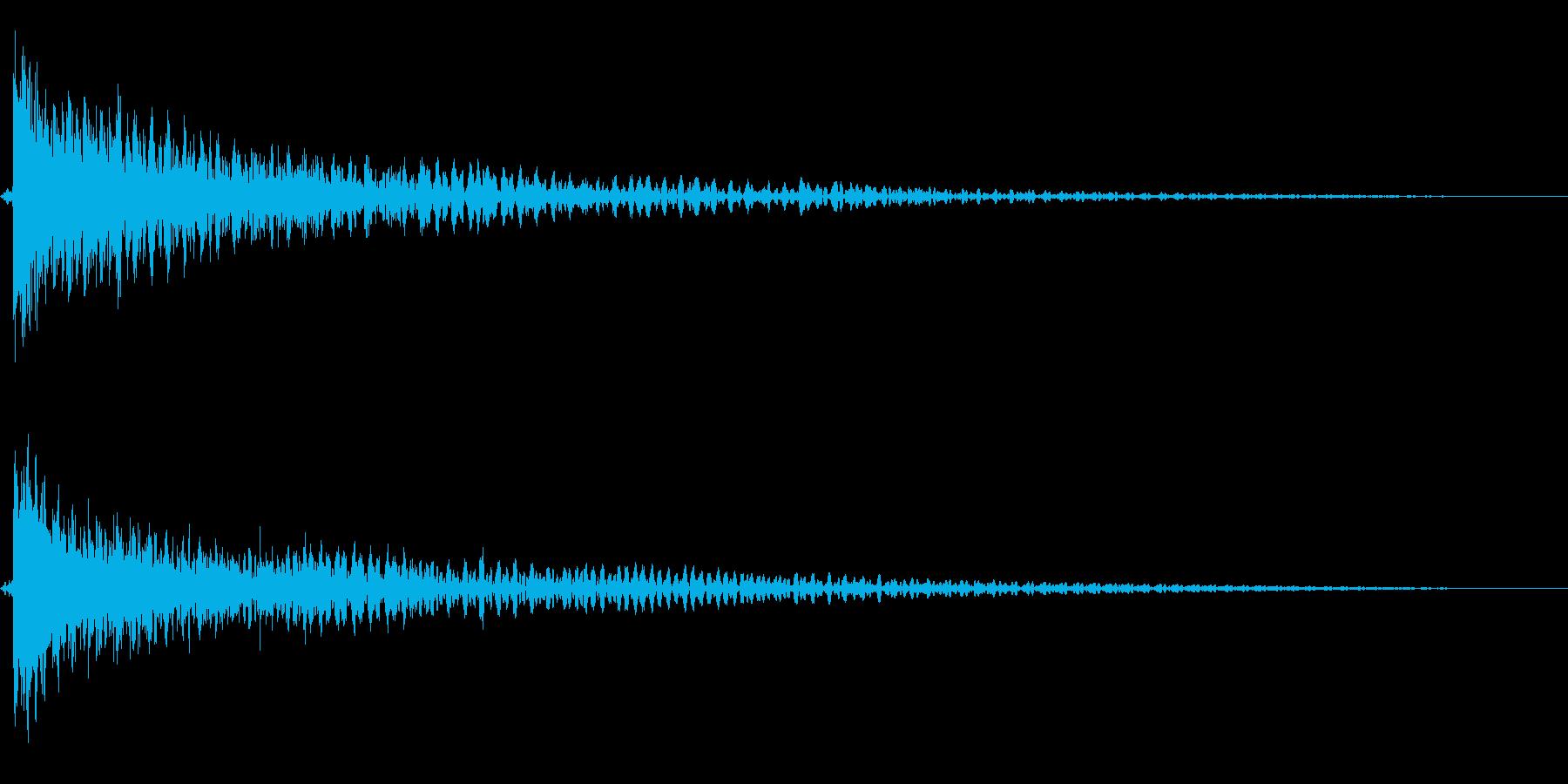 ホラー系アタック音105の再生済みの波形