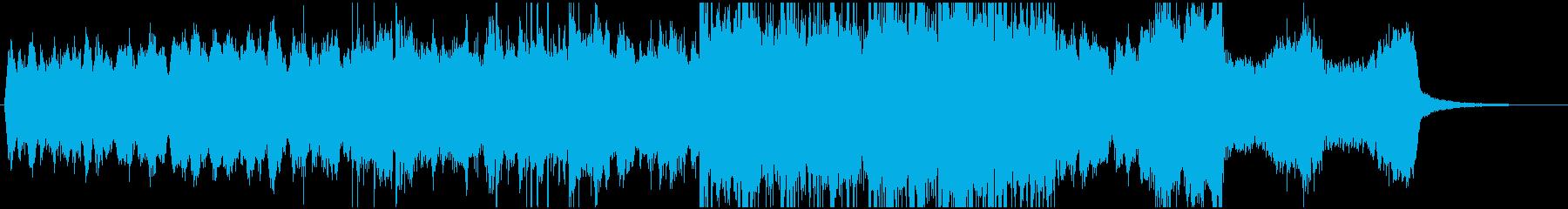ホラー調のストリングスのジングルの再生済みの波形