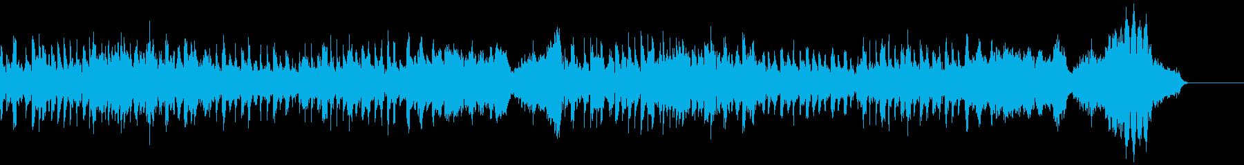 フルートと弦楽器のコミカルな曲の再生済みの波形