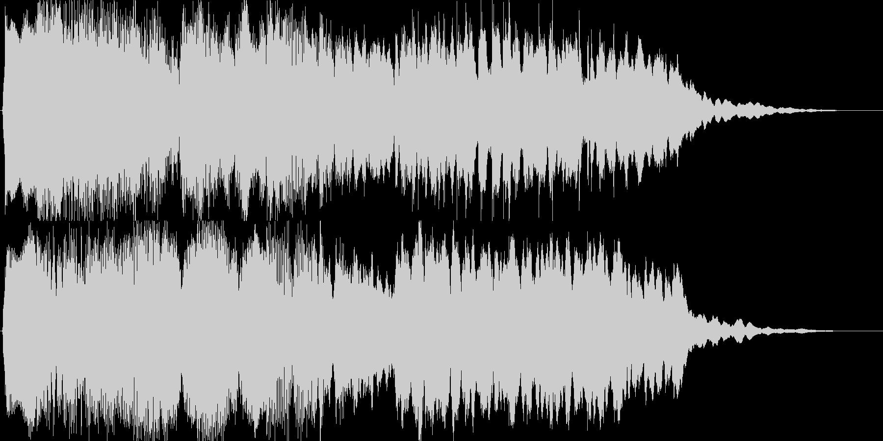幽玄イメージの和風・オリエンタルジングルの未再生の波形