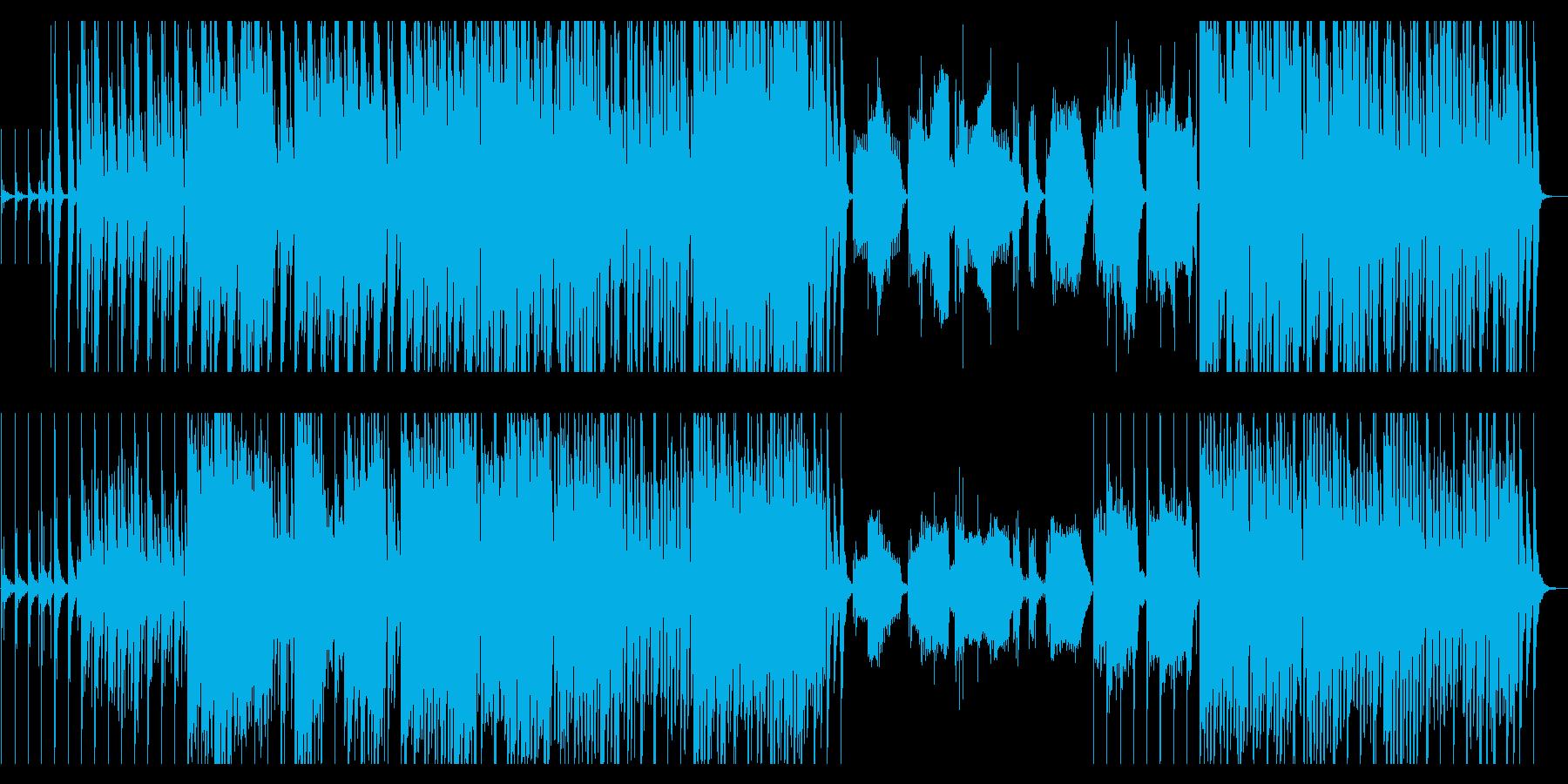 笛と太鼓の和風な曲の再生済みの波形