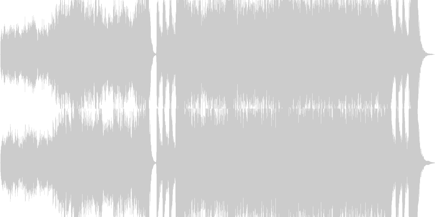 【コーラス無し・ドラム無し】エピ…旅立ちの未再生の波形