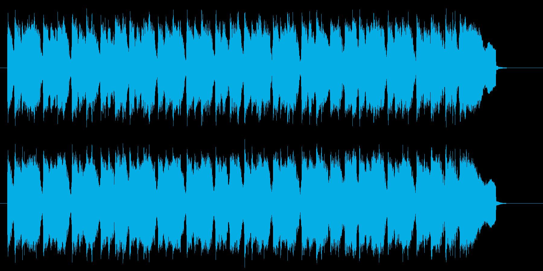 ギターのリフが繰り返される明るいポップスの再生済みの波形