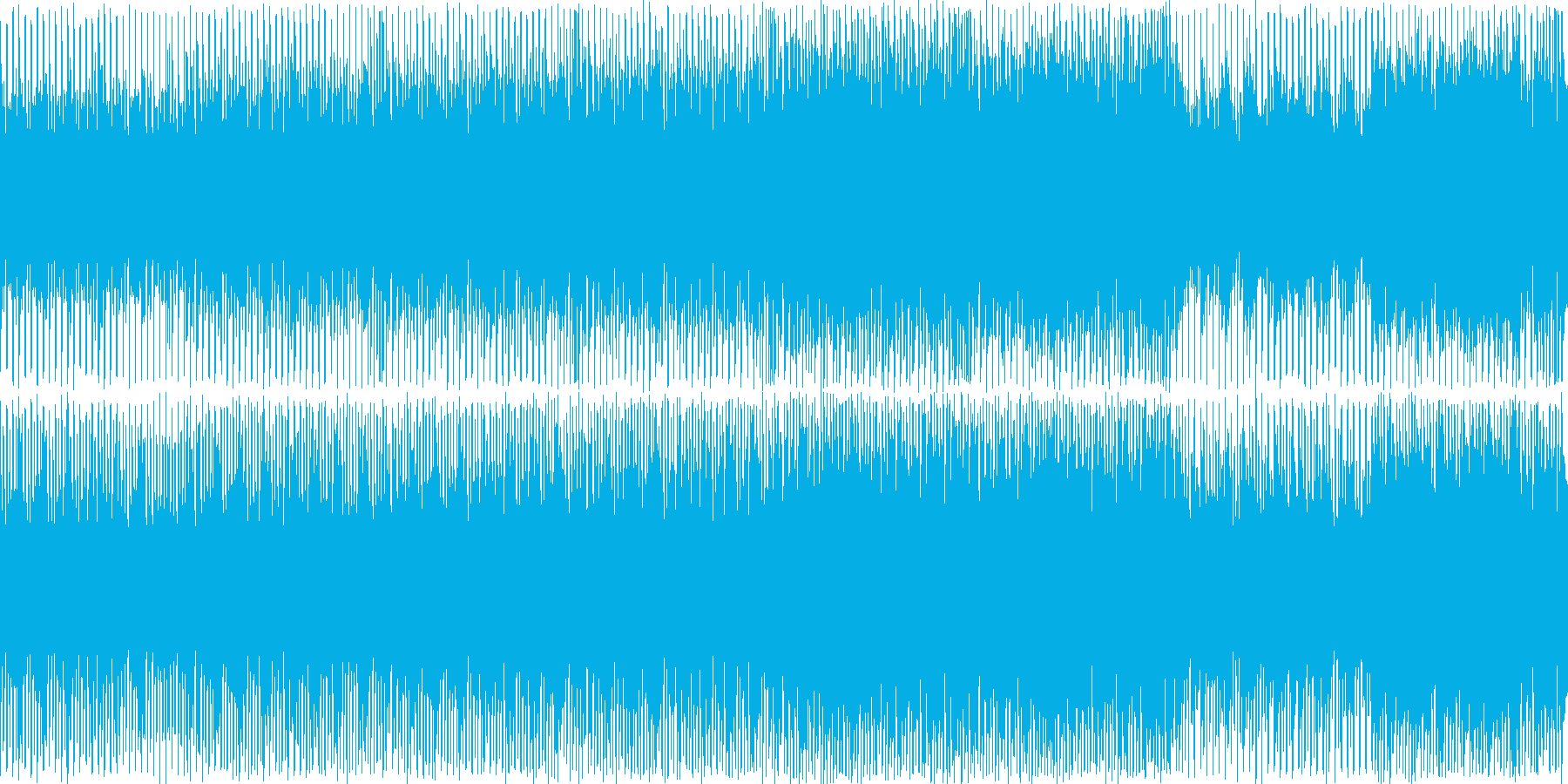 ファッション性のあるハウスミュージックの再生済みの波形