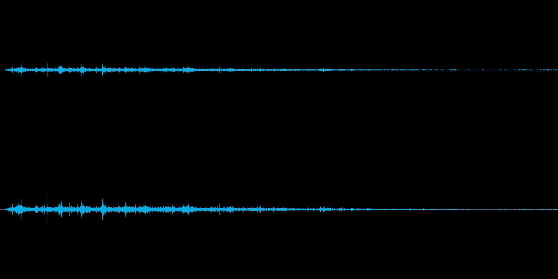 コウモリ達の羽ばたき音1の再生済みの波形