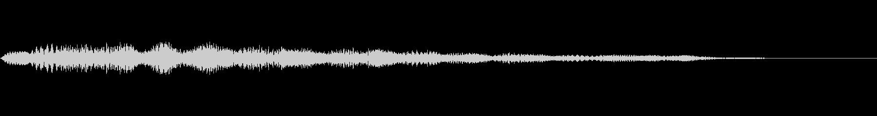 柔らかい雰囲気の通知音・着信音の未再生の波形