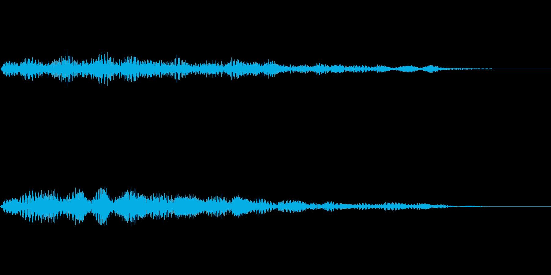 柔らかい雰囲気の通知音・着信音の再生済みの波形