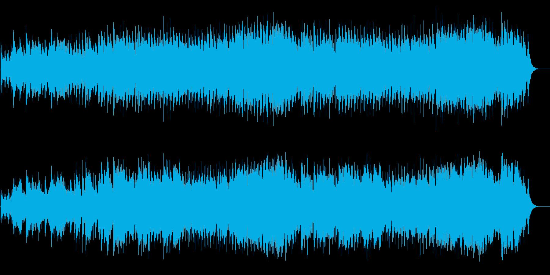 夕暮れ時ののどかで人間味溢れるBGMの再生済みの波形