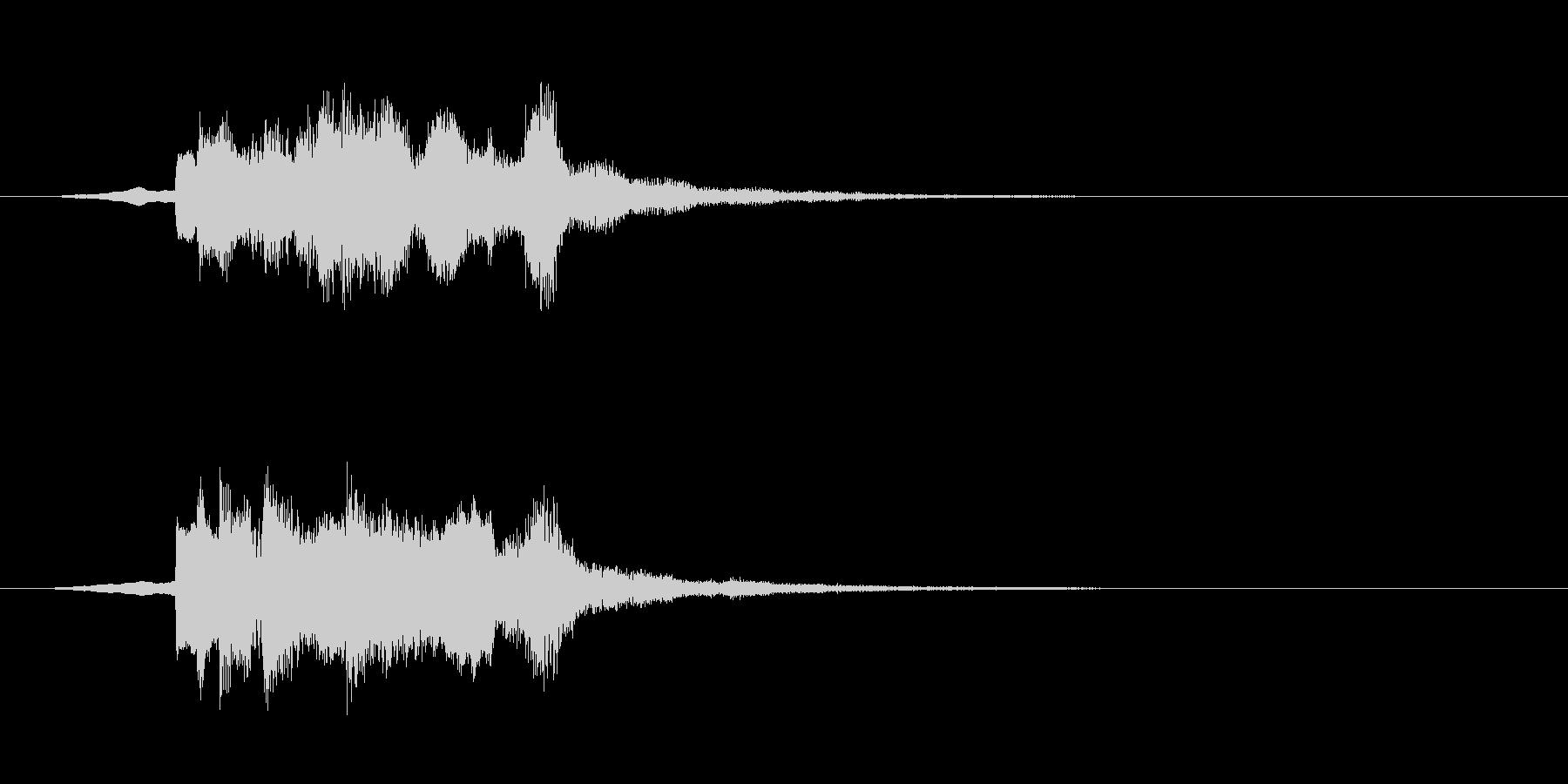 ゲームスタートな音の未再生の波形