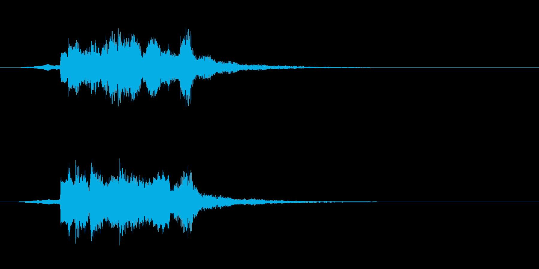 ゲームスタートな音の再生済みの波形