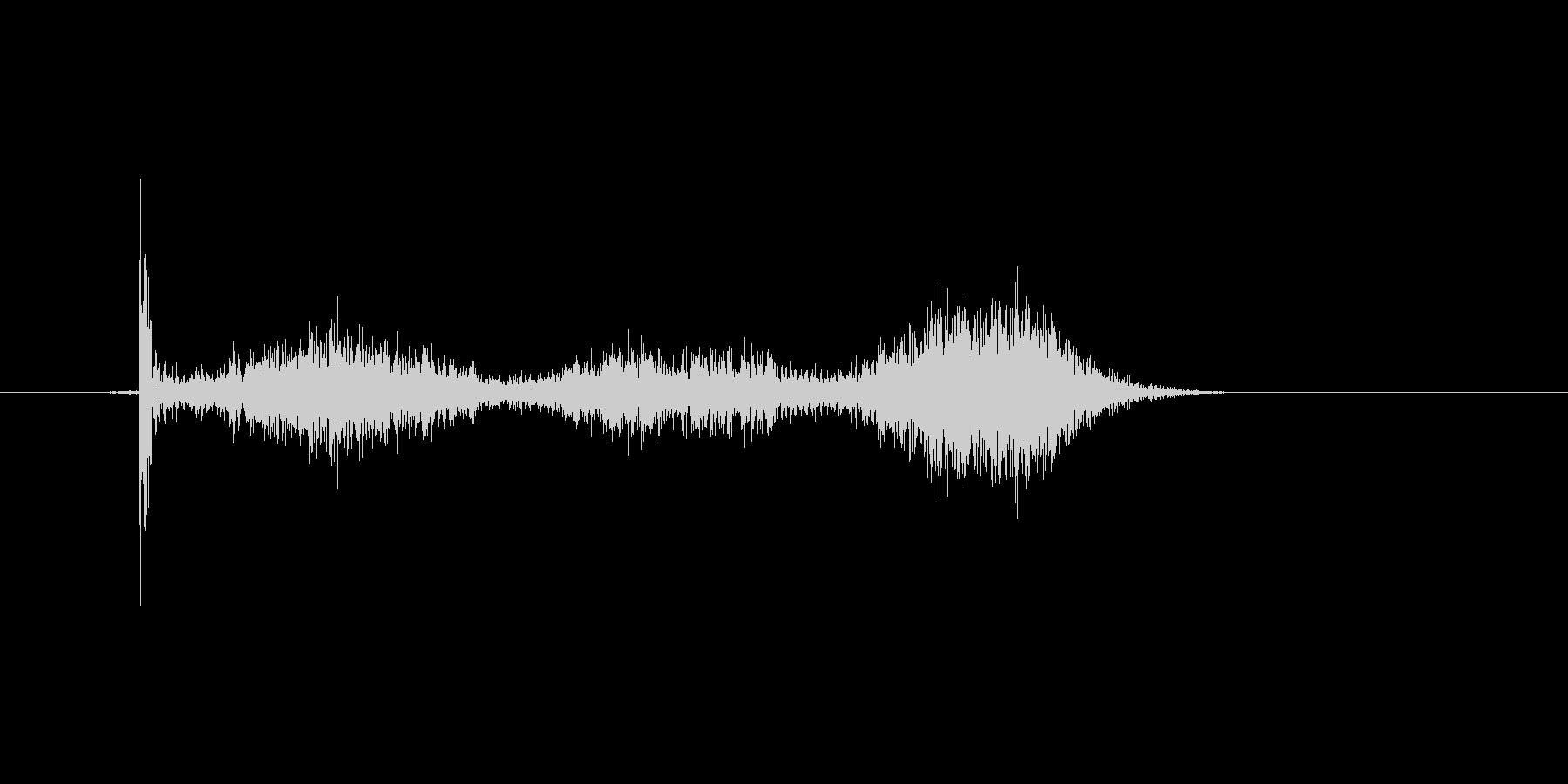 チョークで丸を書いたときの効果音の未再生の波形