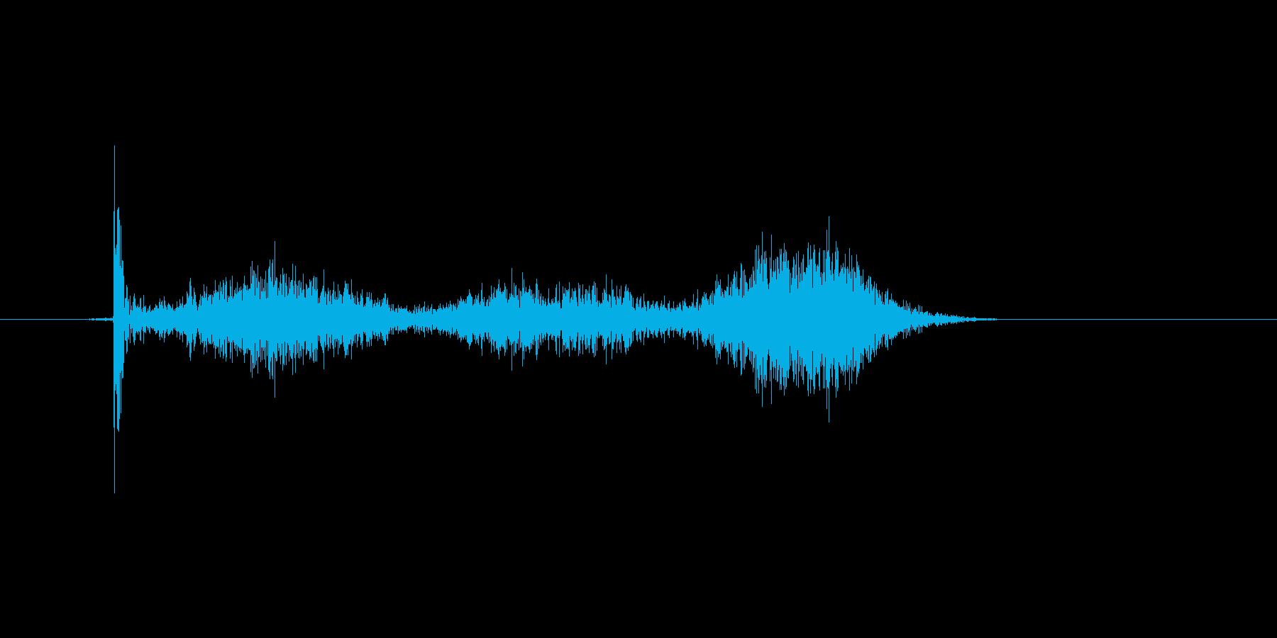 チョークで丸を書いたときの効果音の再生済みの波形