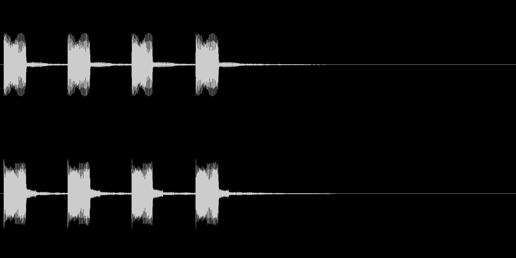 アラーム・危険・お知らせ効果音の未再生の波形