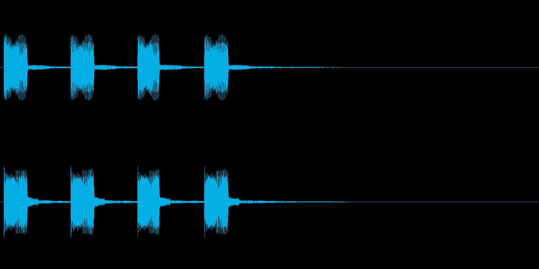 アラーム・危険・お知らせ効果音の再生済みの波形