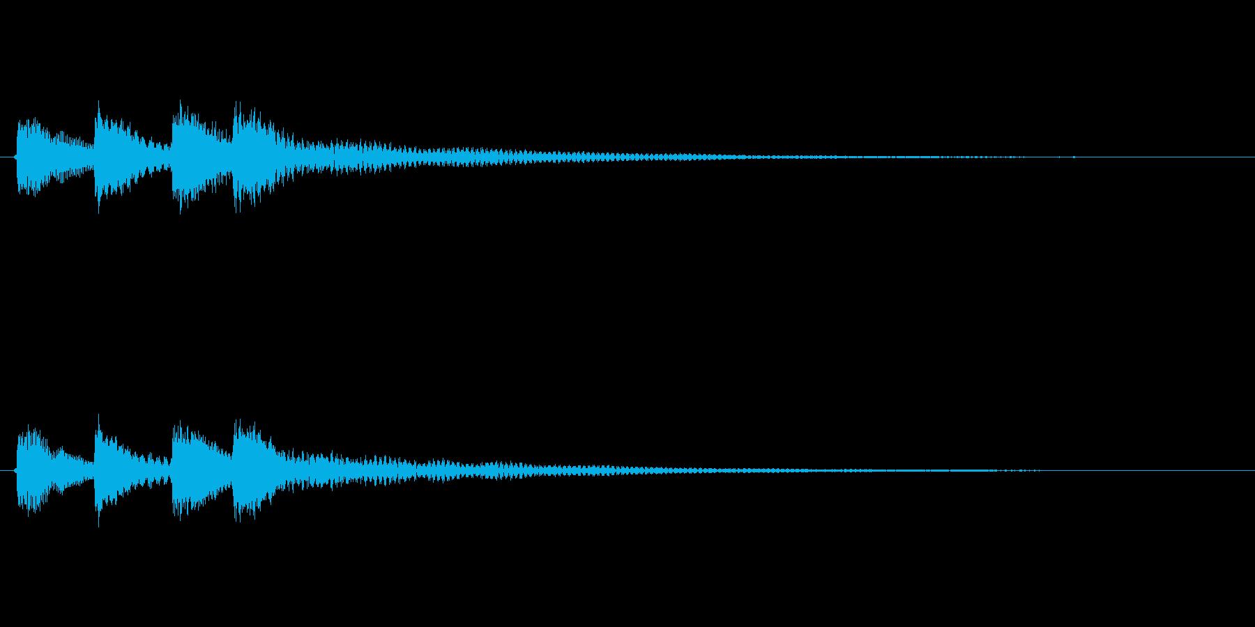 暖かく、少しオシャレな効果音ですの再生済みの波形
