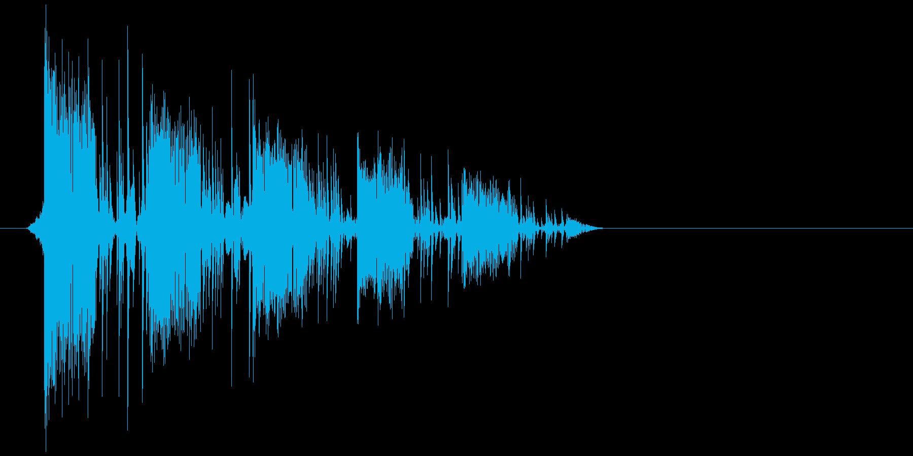 ゲーム(ファミコン風)爆発音_029の再生済みの波形
