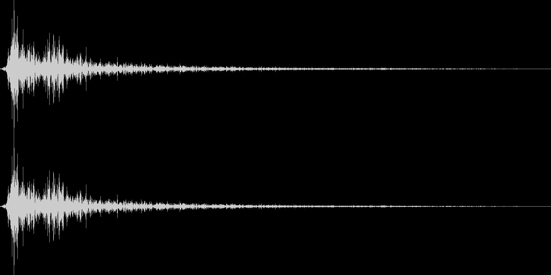 将棋の駒を指す 効果音 04の未再生の波形
