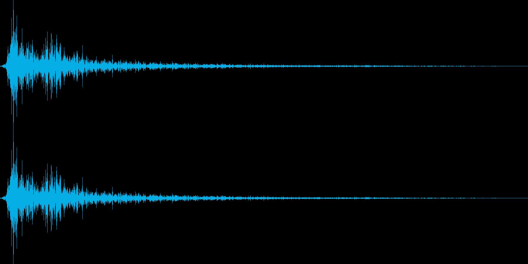 将棋の駒を指す 効果音 04の再生済みの波形