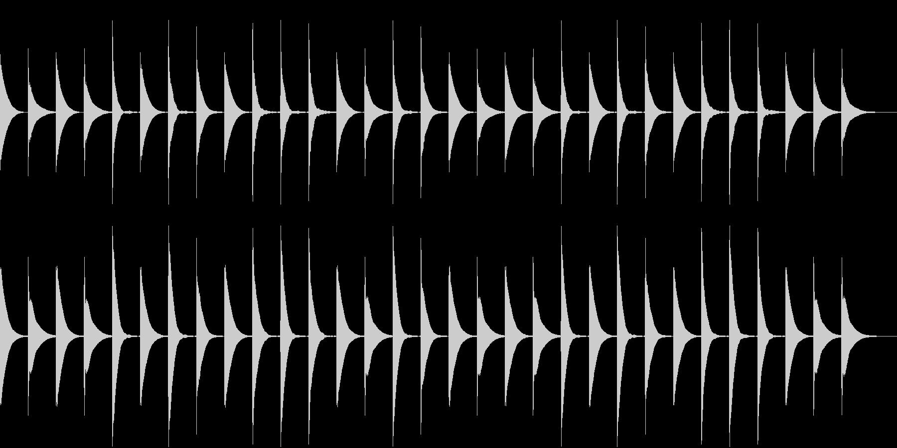 Xylo ゆる可愛い子供向け 木琴ループの未再生の波形