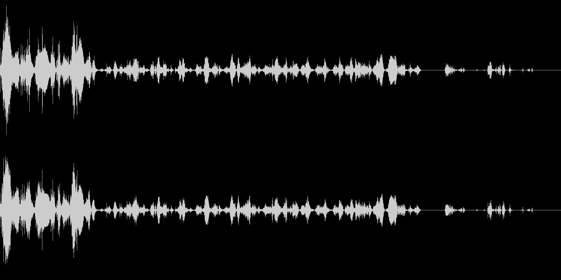電撃(バシューン、ビリビリ)の未再生の波形