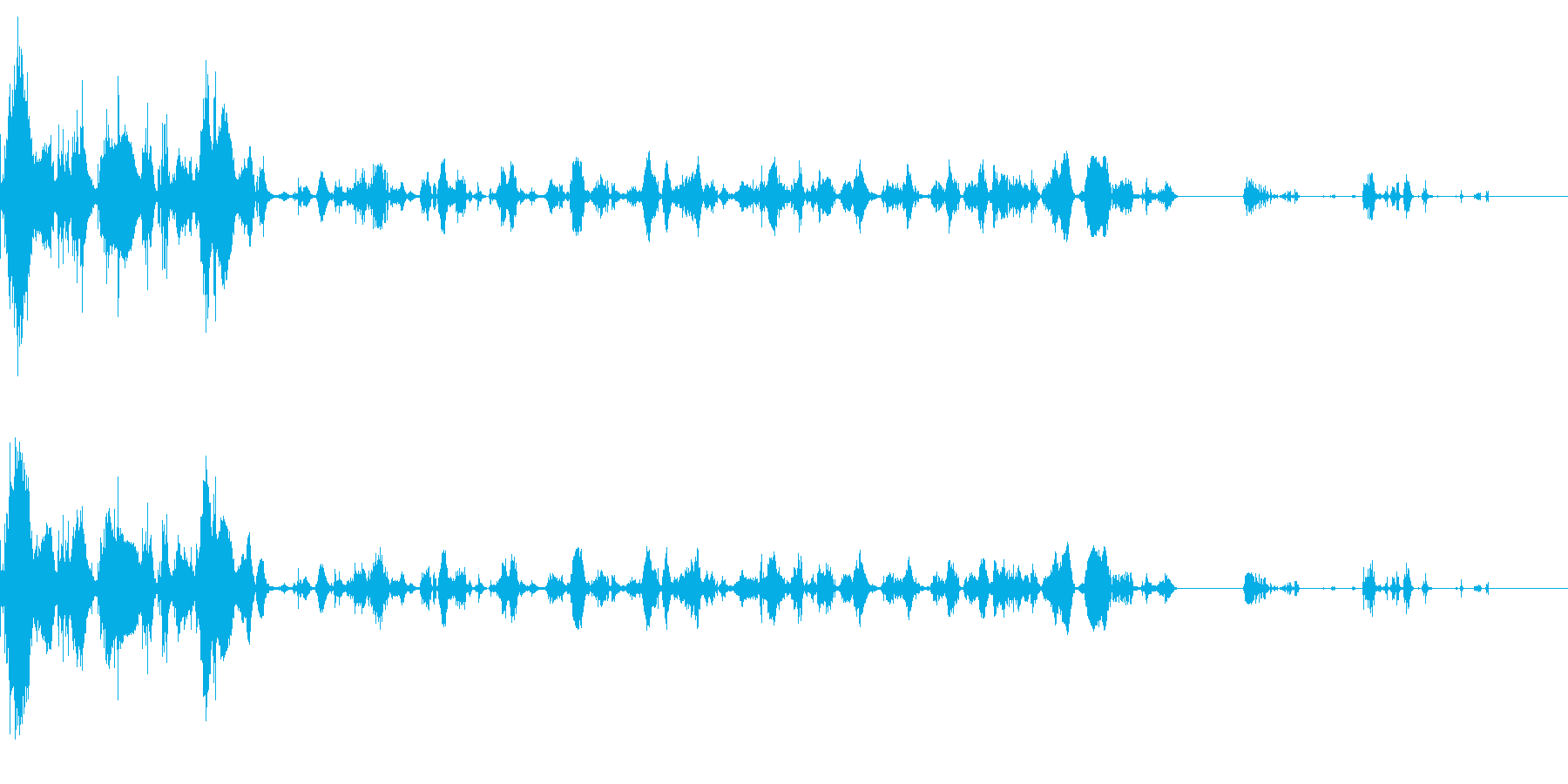 電撃(バシューン、ビリビリ)の再生済みの波形