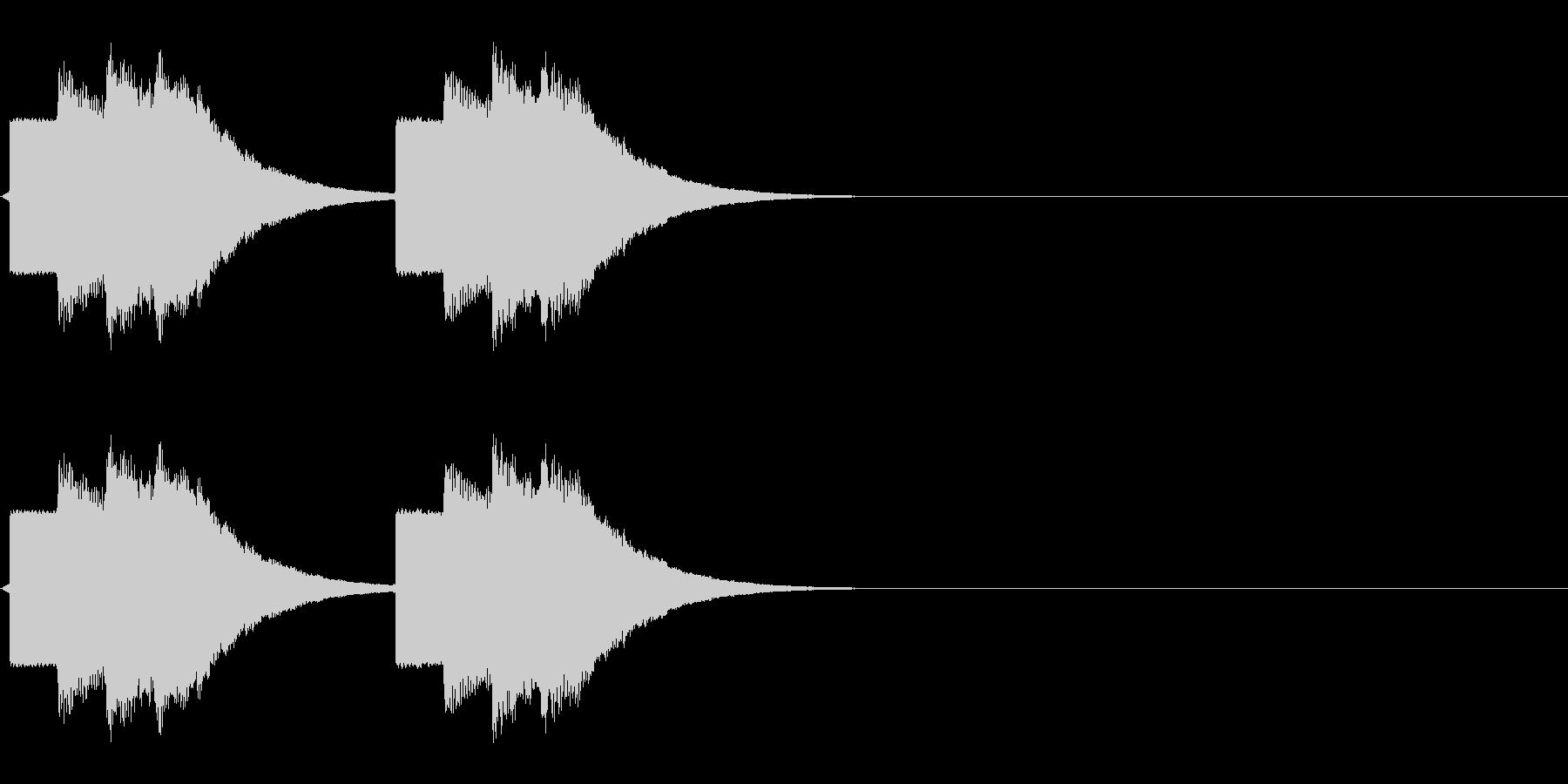 速報テロップ風の音の未再生の波形