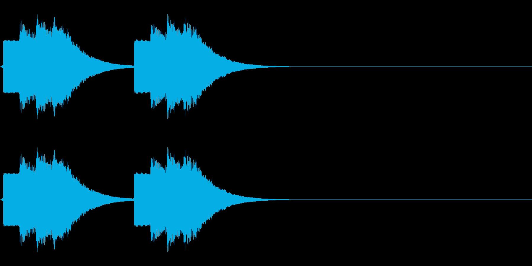 速報テロップ風の音の再生済みの波形