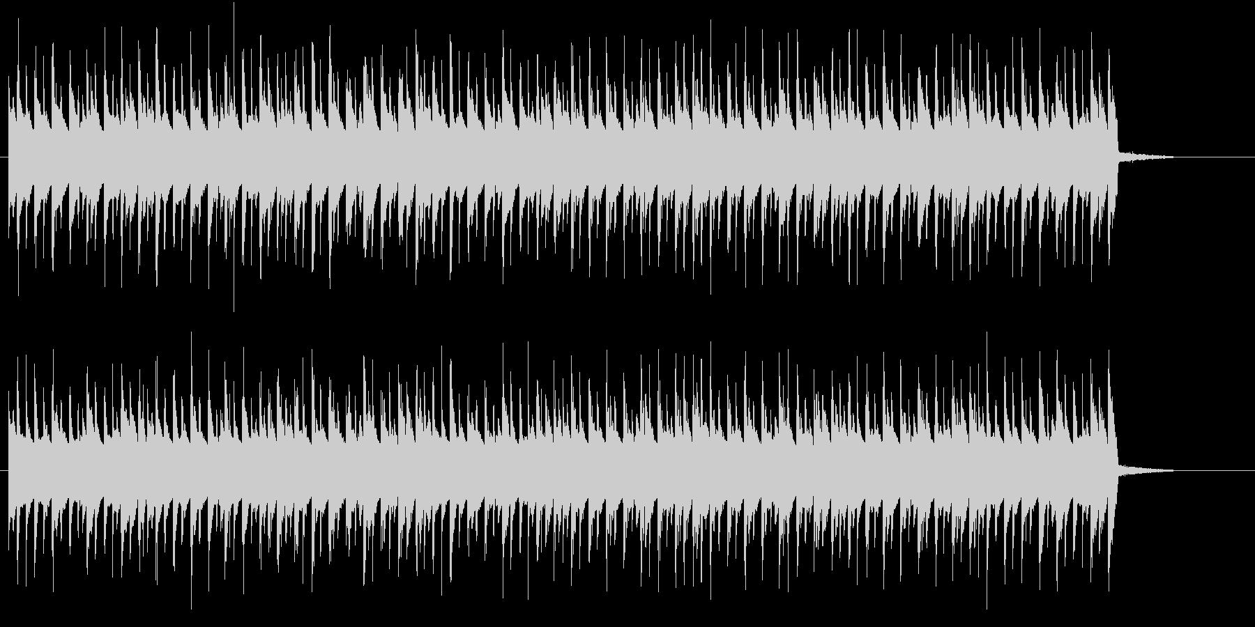 躍動的でポップなトランスBGMの未再生の波形