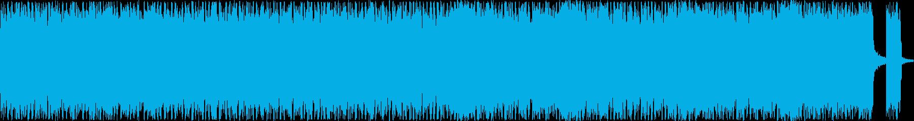 シンセを入れたヘビーメタルの再生済みの波形