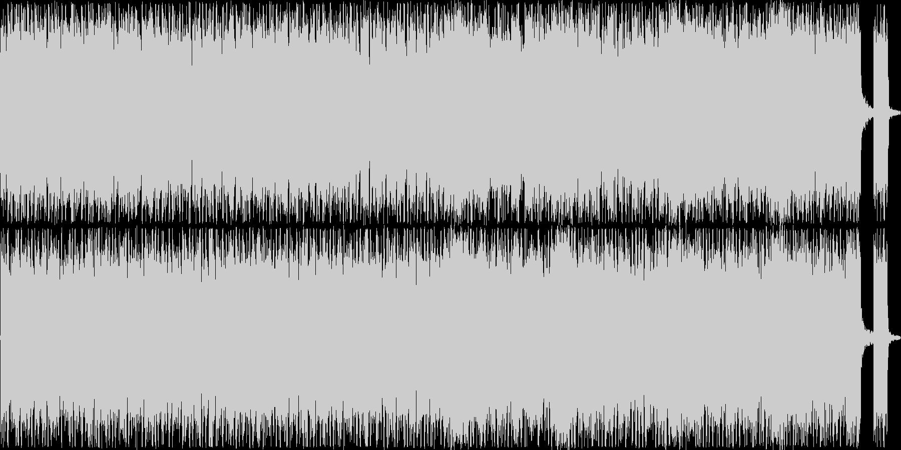 シンセを入れたヘビーメタルの未再生の波形