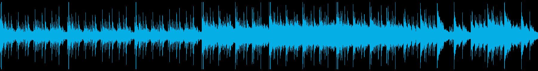 不穏なシーン向けの静かなピアノ曲の再生済みの波形