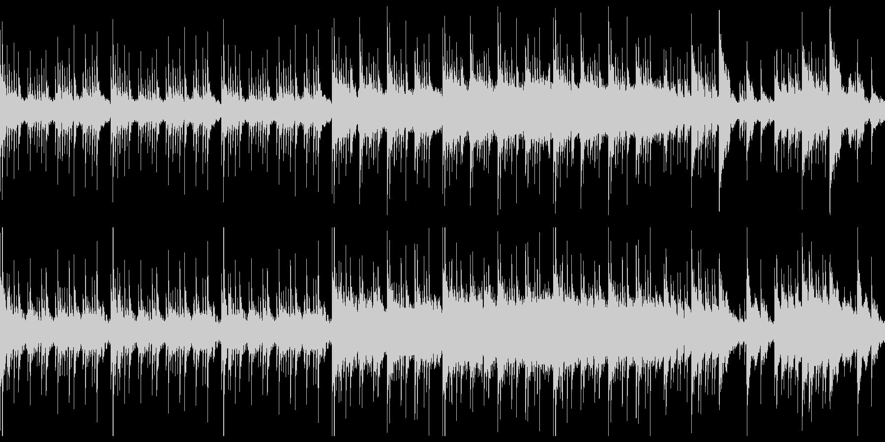 不穏なシーン向けの静かなピアノ曲の未再生の波形