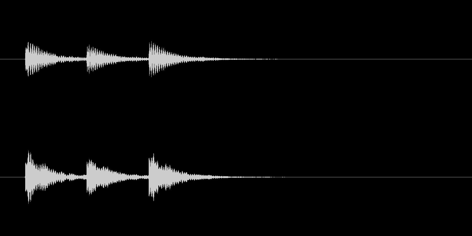 ティンティンティン(ベルのような音)の未再生の波形