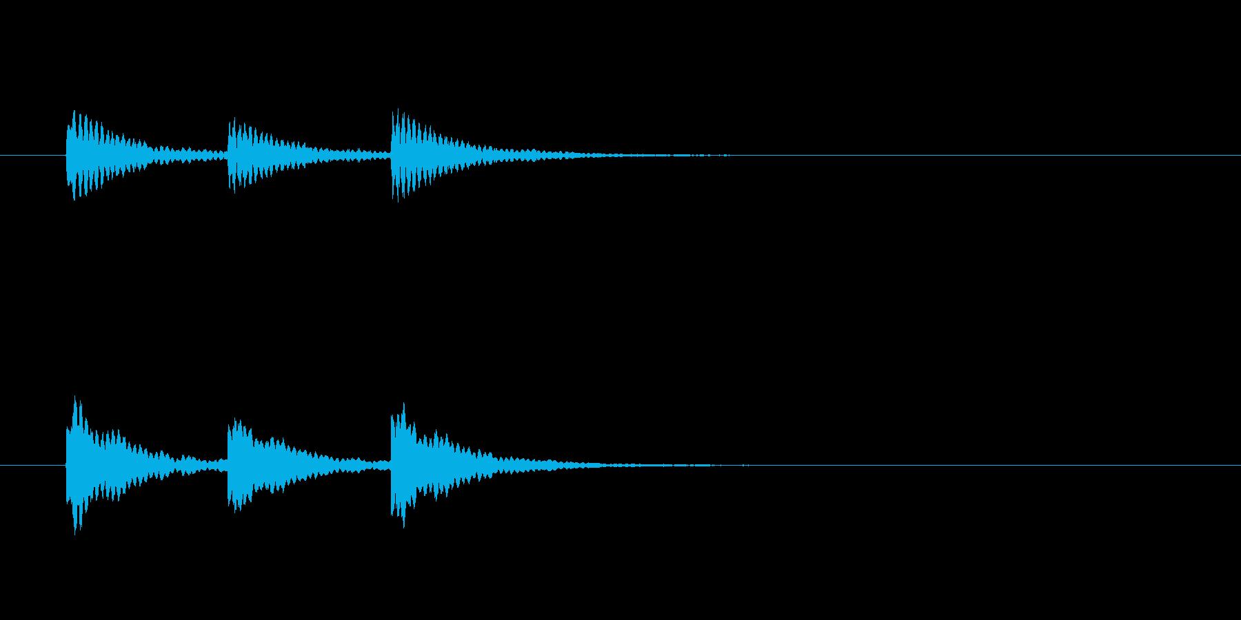 ティンティンティン(ベルのような音)の再生済みの波形