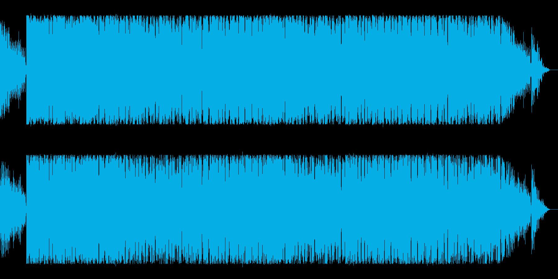 落ち着いた雰囲気のラップの再生済みの波形