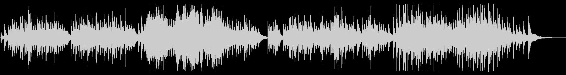 雪解けの切ないピアノBGMの未再生の波形