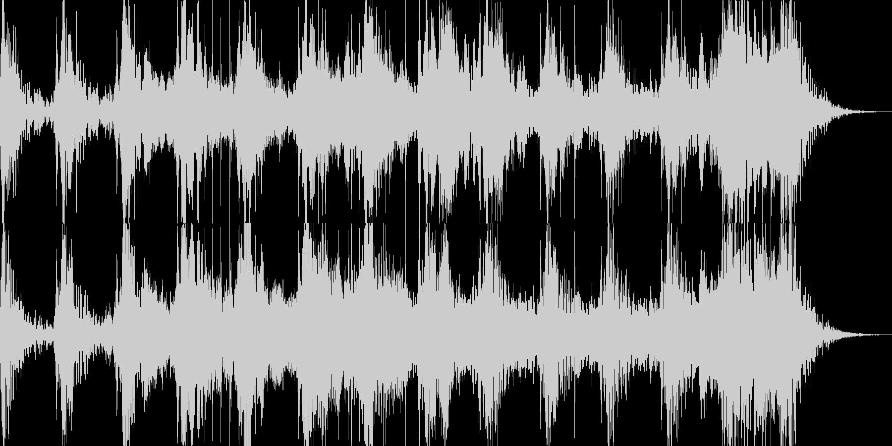 戦前をイメージ。三味線、尺八、太鼓等。の未再生の波形