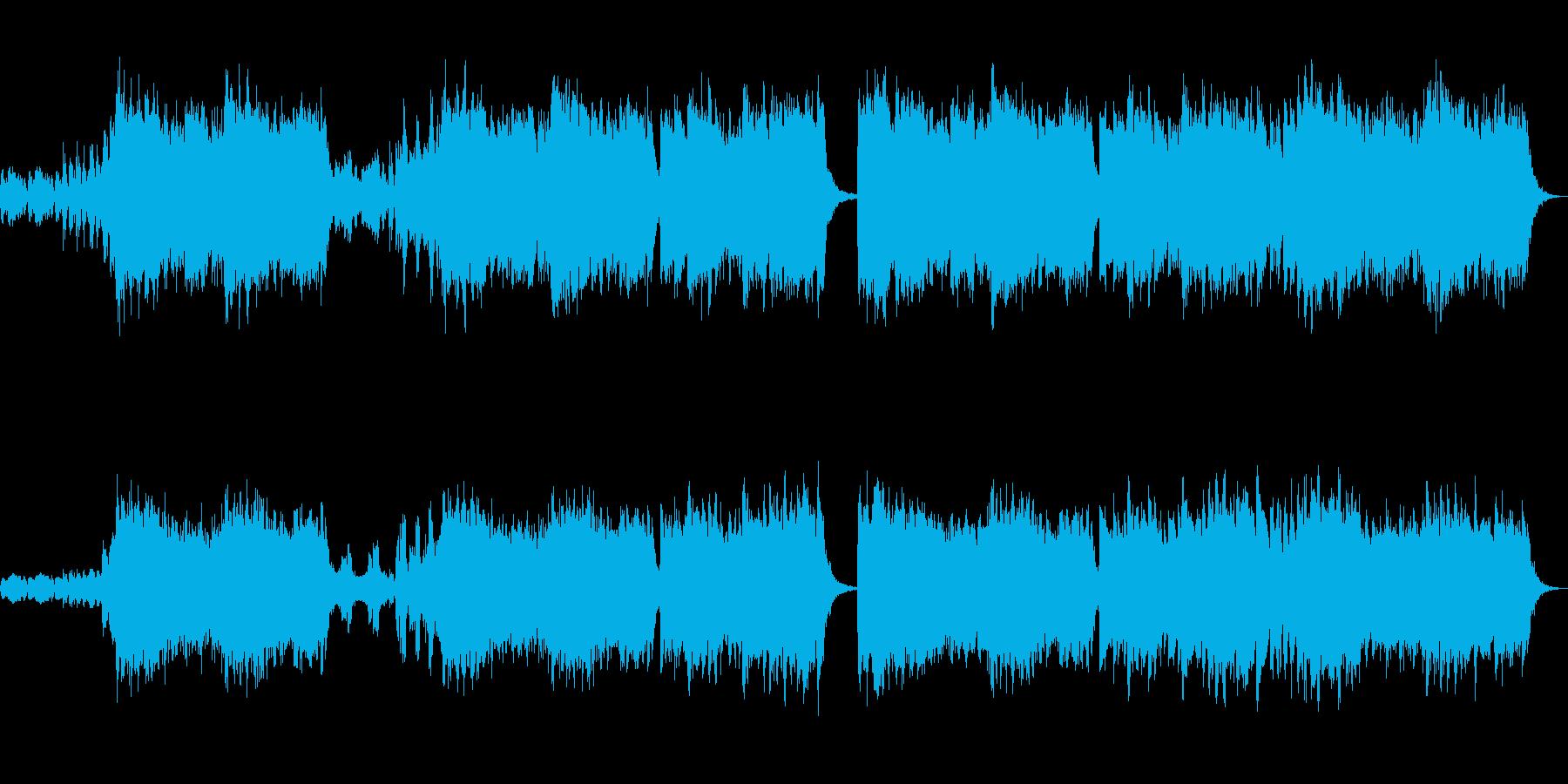 メンデルスゾーンの結婚行進曲を吹奏楽での再生済みの波形