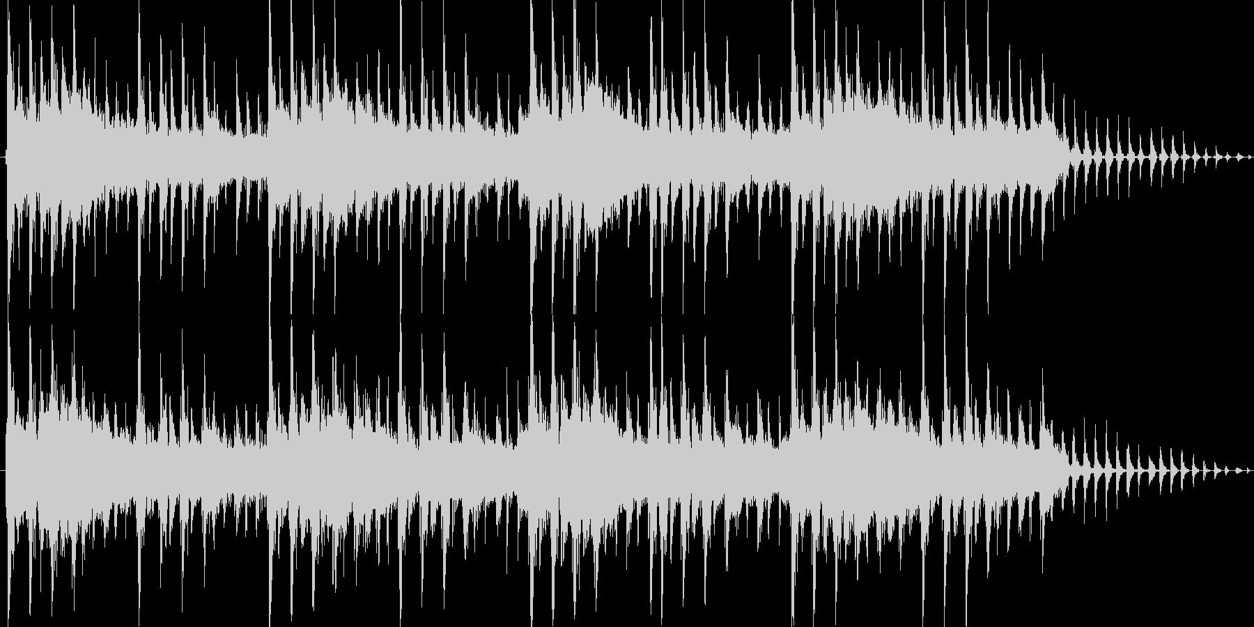 メカニカルな雰囲気のテクノジングルの未再生の波形