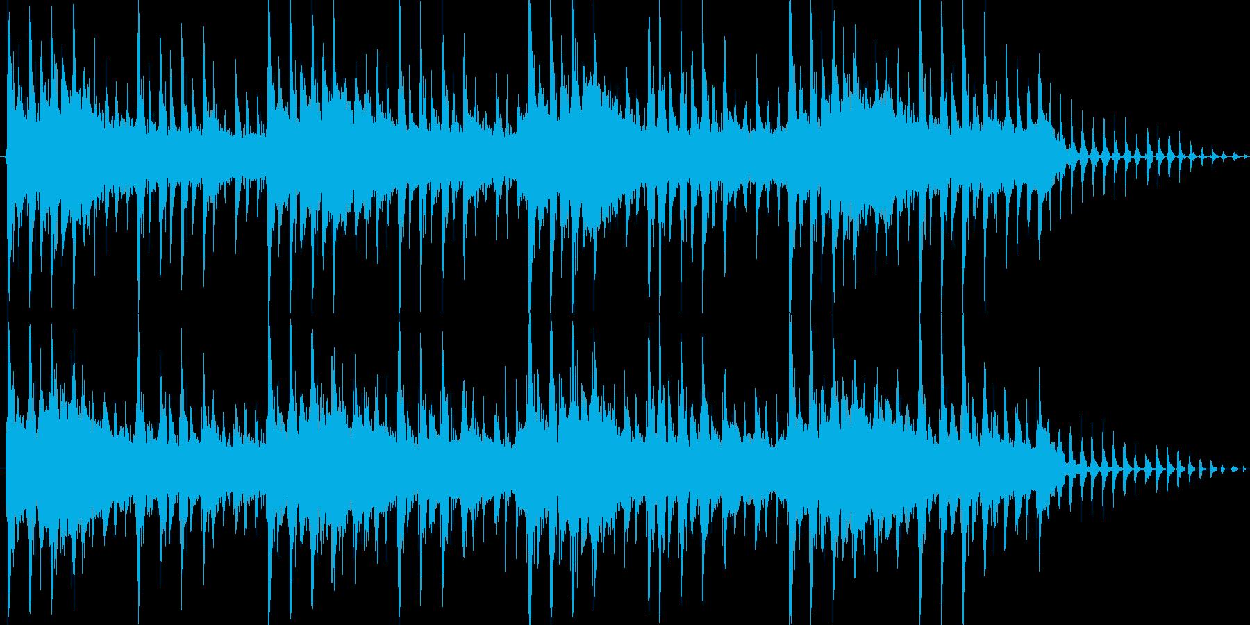 メカニカルな雰囲気のテクノジングルの再生済みの波形