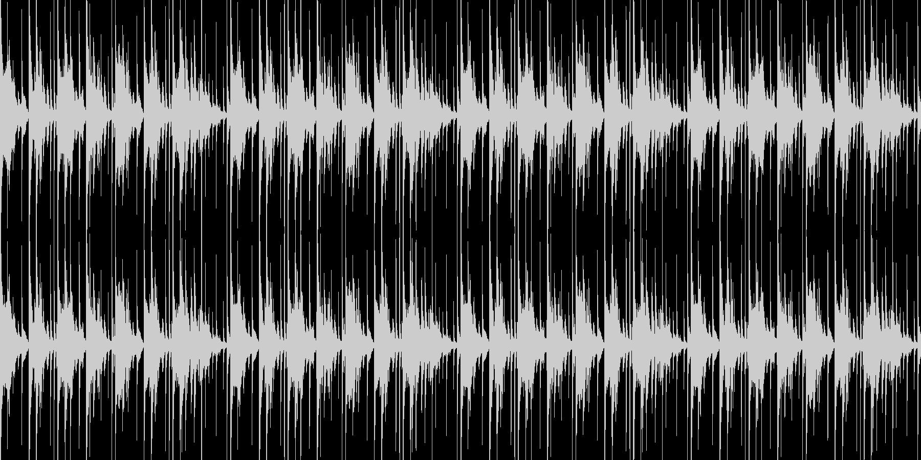 軽快なアルトサックスのループ素材の未再生の波形