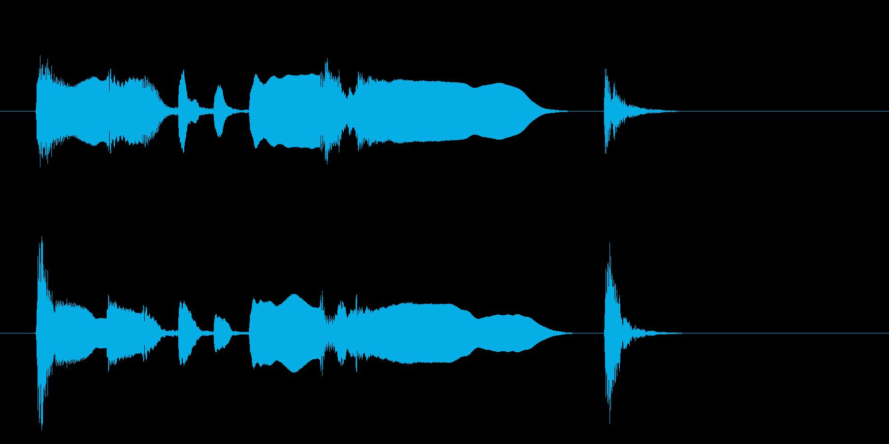 少しお間抜けなクラリネットアイキャッチの再生済みの波形
