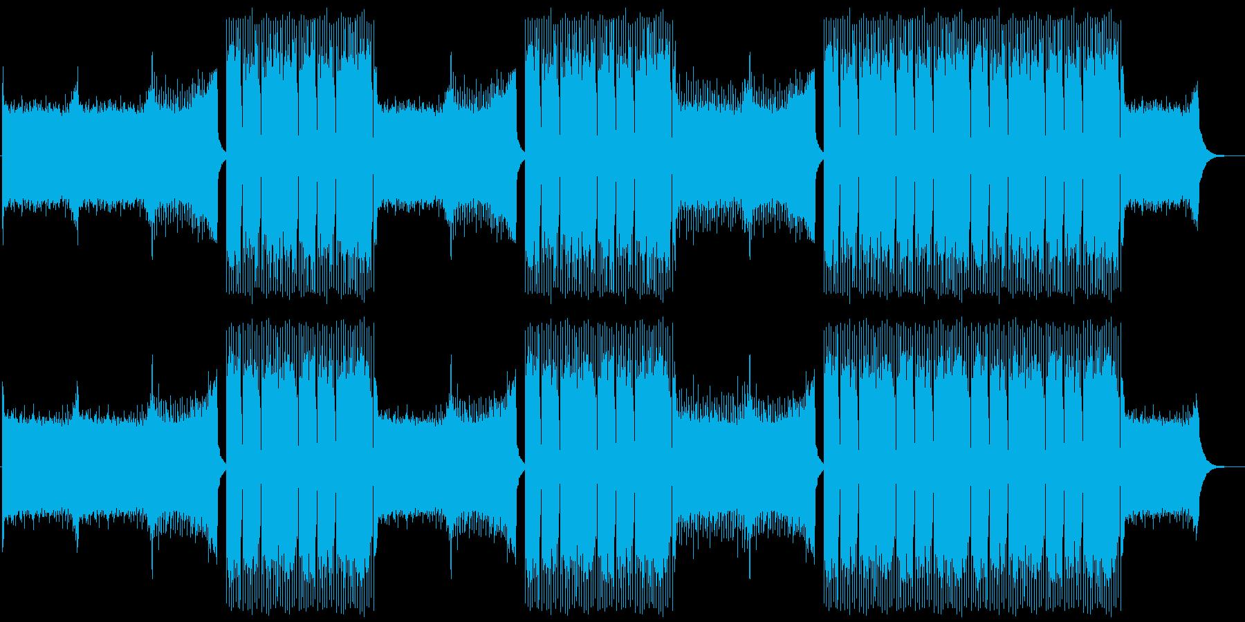 EDMクラブ系ダンスミュージック-07の再生済みの波形