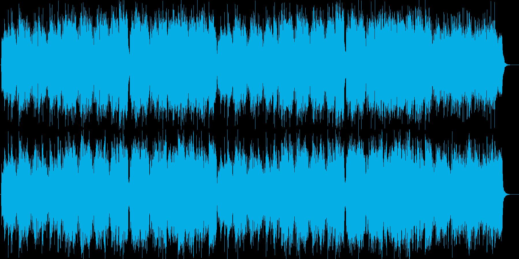 ゆったり流れるシンセサイザー・ギター曲の再生済みの波形
