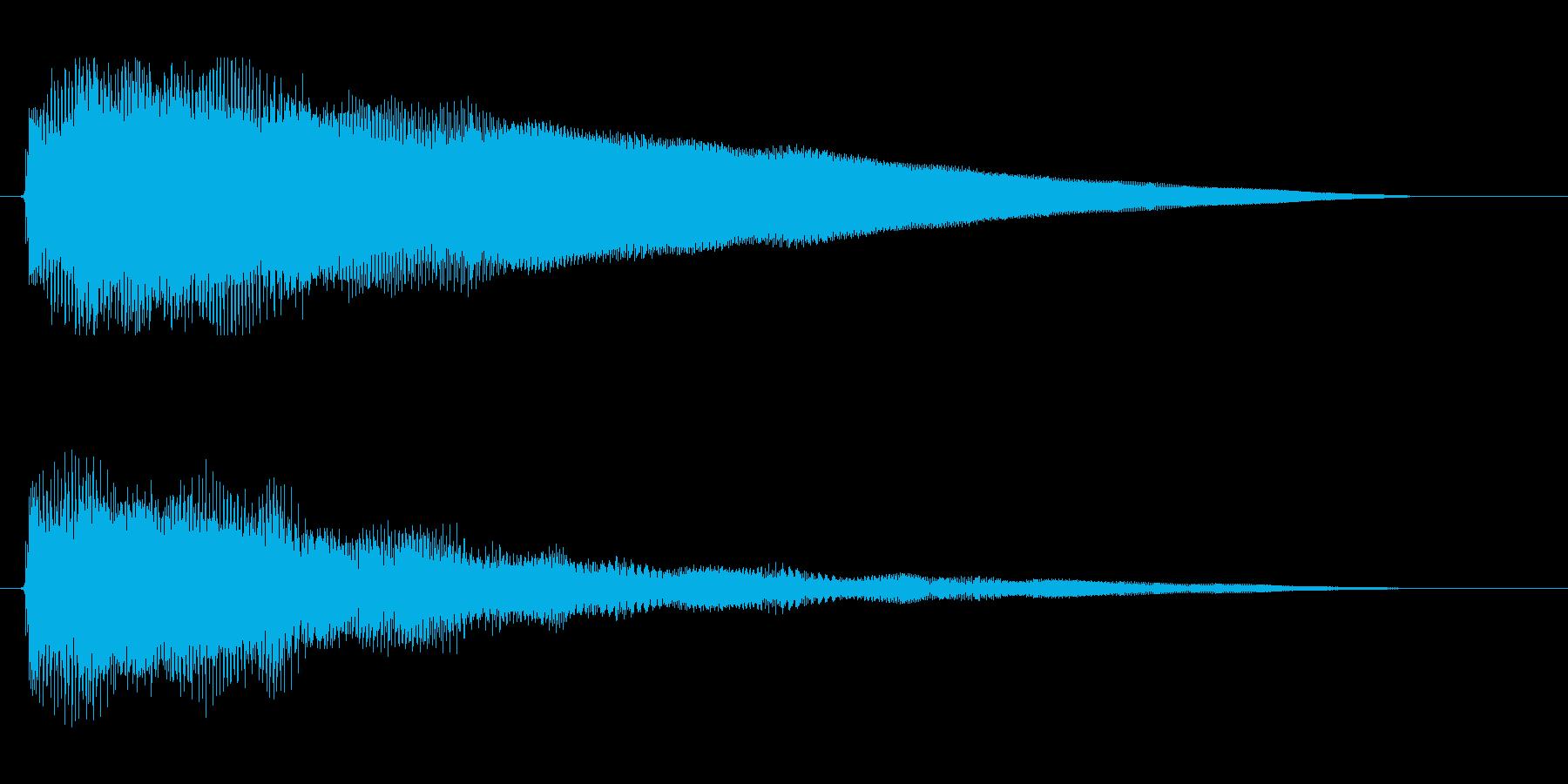 エレキギター。ジャラーン。の再生済みの波形