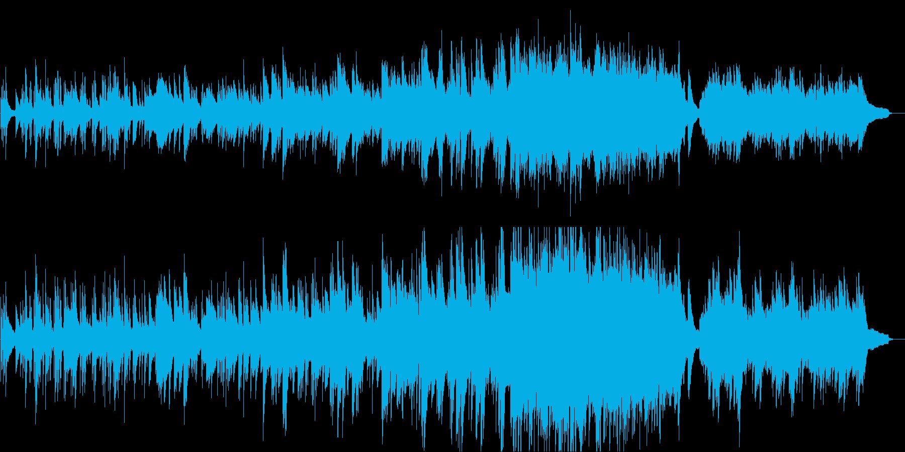 優しさがそっと包み込むようなピアノ曲の再生済みの波形