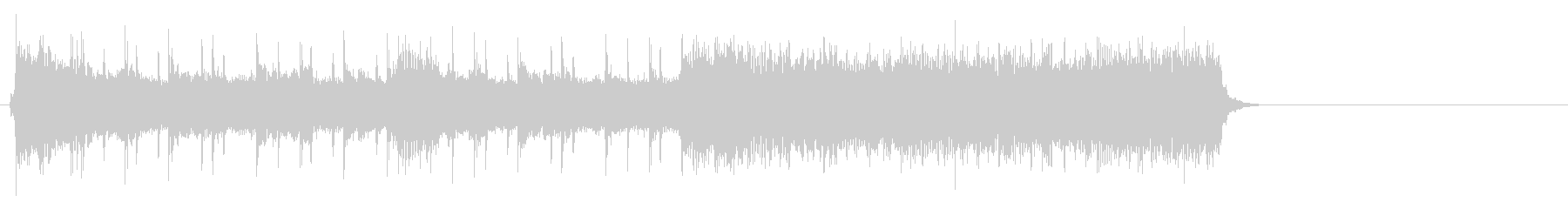 疾走するアメリカンロック(イントロ)の未再生の波形
