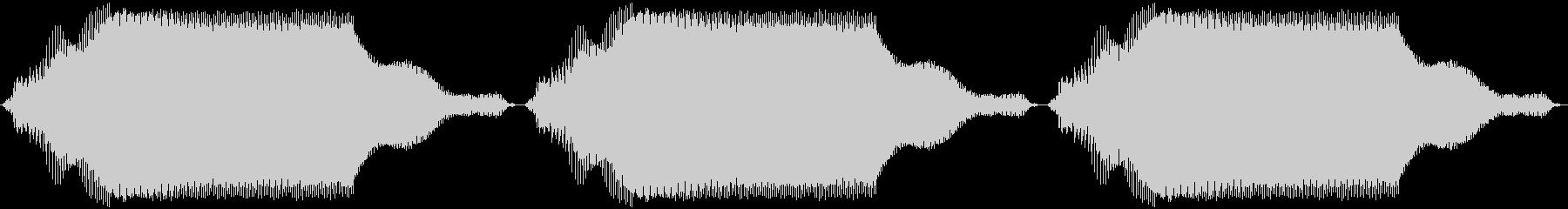 バイブ スマホ ブーン×3 ゆっくりの未再生の波形