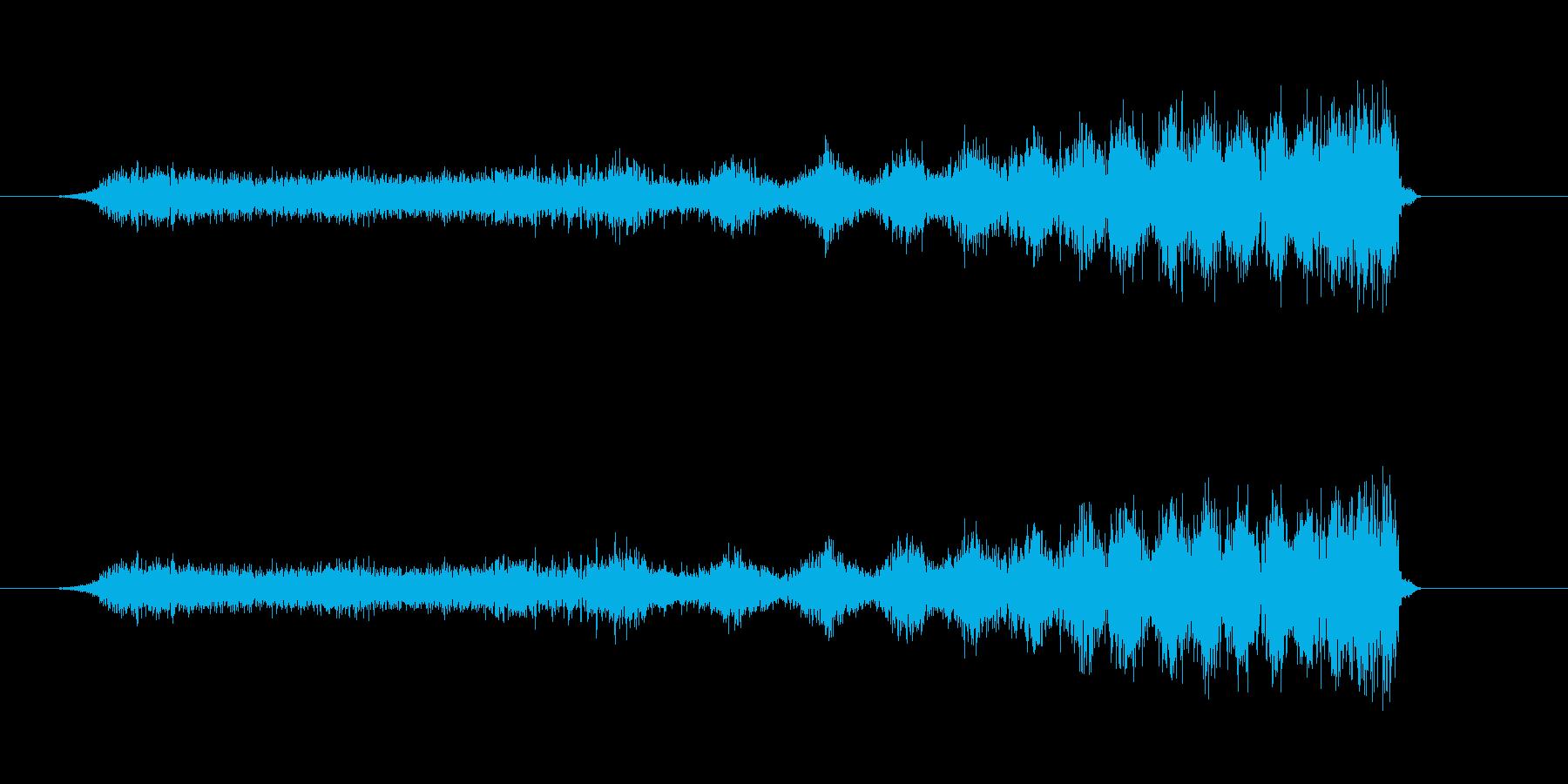 チャージ音。の再生済みの波形
