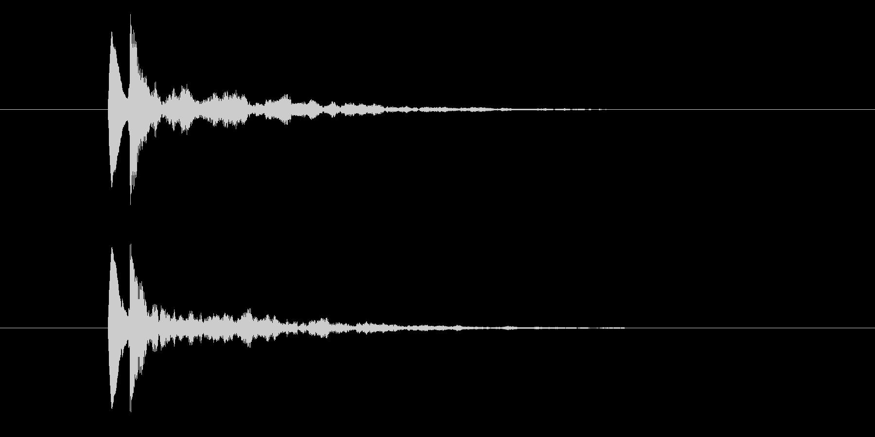 (ポロンッッ)アプリ起動音の未再生の波形